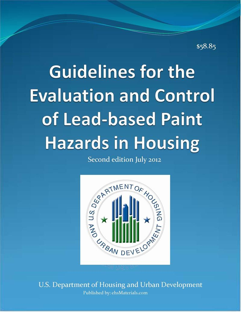 Lead hud guidelines 2012 edition 904 pages for Lead based paint inspection